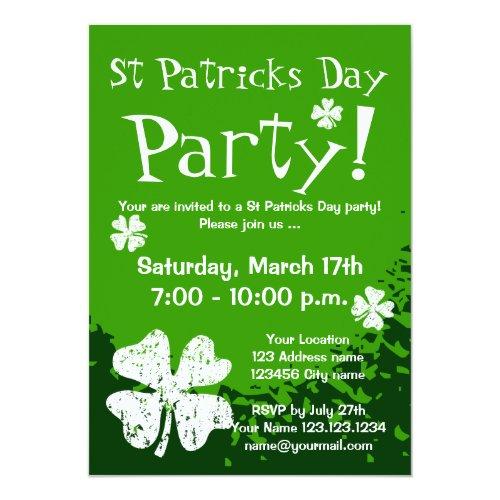St Patricks Day party invitations | Customizable