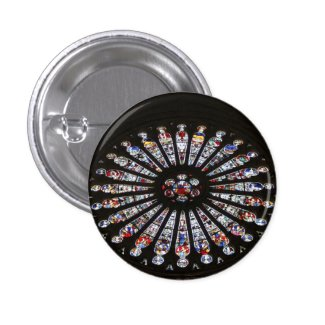 Stained-Glass Church Rose Window Pins