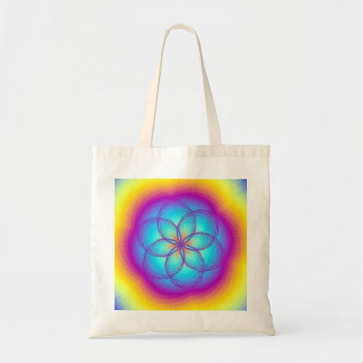 Stained Glass Lotus Budget Tote Bag