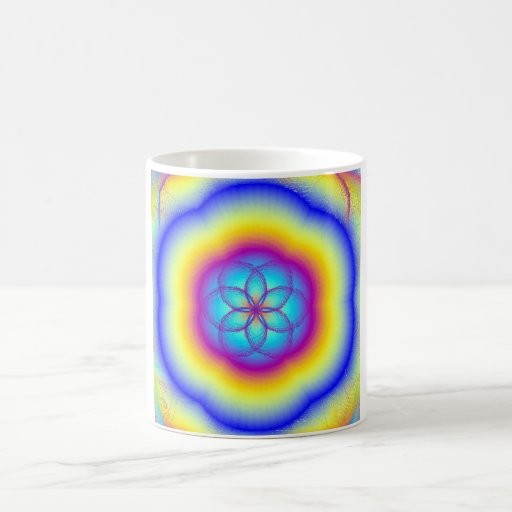 Stained Glass Rainbow Coffee Mug