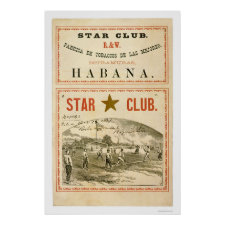Star Club Baseball 1867 Poster