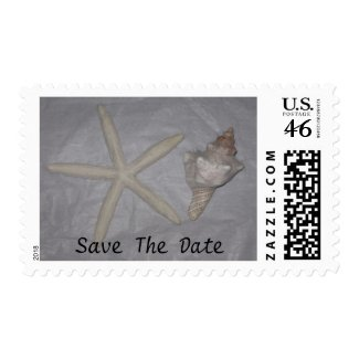 Star fish Seashell Save the Date stamp
