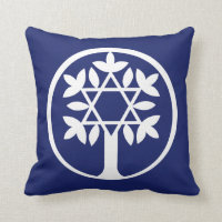 Star of David - Tree of Life Throw Pillow. Throw Pillow