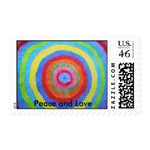 Starburst, Peace and Love stamp