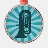 Starburst Tuba Ornament