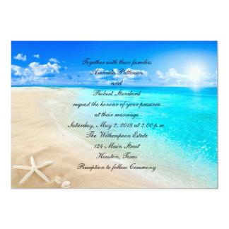 Destination Beach Summer Pocket Wedding Invitations Ewpi182