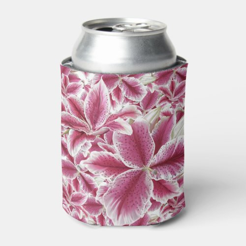Stargazer Lillies Can Cooler