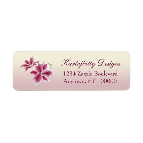 Stargazer Lillies Return Labels