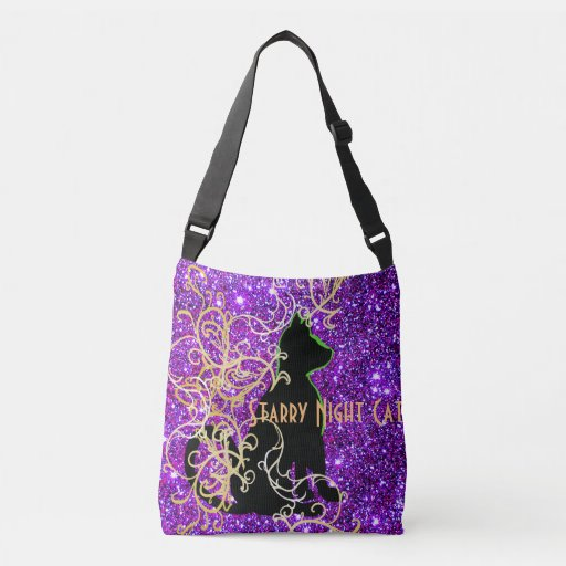 Starry Night Cat Sparkly Fun CricketDiane Art Tote Bag