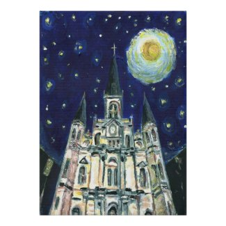 Starry Night Cathedral print