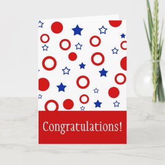 Stars and Congratulations! - Card