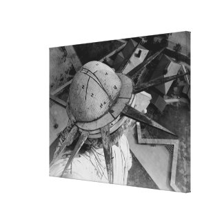 Statue of Liberty Aerial Photograph (1920) Canvas Print