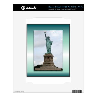 Statue Of Liberty Green Gradient Decals For The Nook