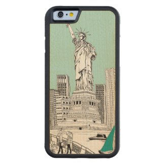 Statue of Liberty Maple iPhone 6 Bumper Case