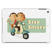 Stay Smart Scooter Monkeys iPad Air Covers