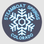 Steamboat Springs, Colorado Classic Round Sticker