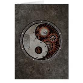 Steampunk Yin Yang Card