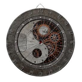 Steampunk Yin Yang Dart Board