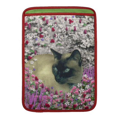 Stella in Flowers I – Chocolate Cream Siamese Cat Sleeve For MacBook Air
