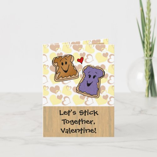 Stick Together Peanut Butter Valentine Holiday Card