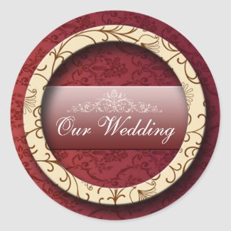 3d Wedding Sticker