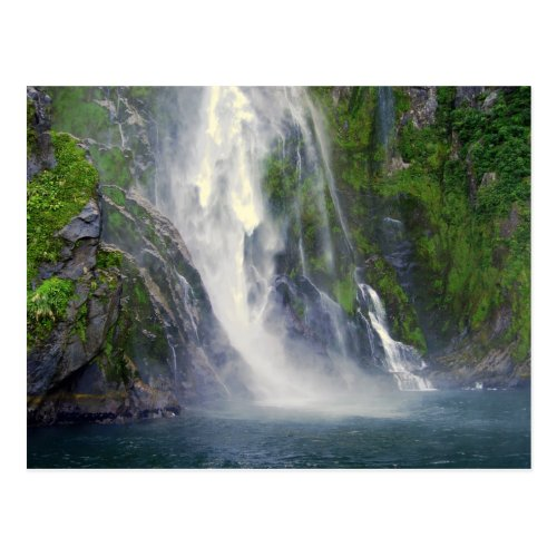 Stirling Falls, Milford Sound, NZ Postcard