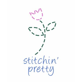 Stitchin Pretty with Flower Shirt shirt