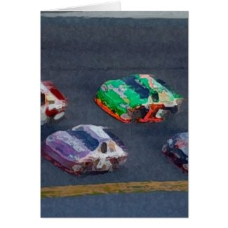 Stock Cars 4 Greeting Card