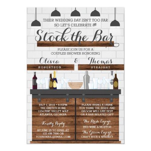 Stock the Bar Shower, Farmhouse Style Invitation