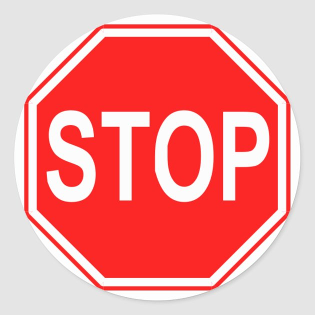 Stop Sign Stickers Zazzle