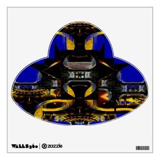Strange Extreme Design Futuristic UFO Wall Decal Poster CricketDiane 2012