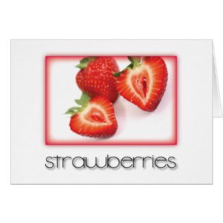 Strawberries Card