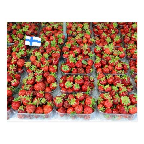 Strawberries, Market Square, Helsinki, Finland Postcard