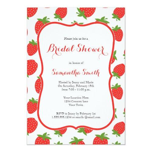 Strawberry Bridal Shower Invitation