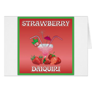 Strawberry Daiquiri Greeting Cards