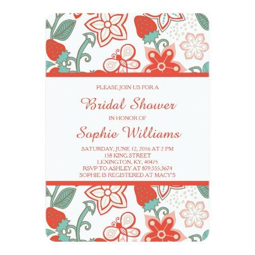 Strawberry Garden Bridal Shower Invitation
