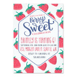 Strawberry Invitation for Girls Summer Party