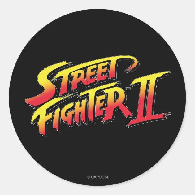 Street Fighter II Logo Classic Round Sticker