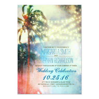 Beach Themed Wedding Invitation Suite