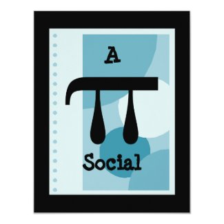 Study Party or Benefit Pi Pie Social Invitations