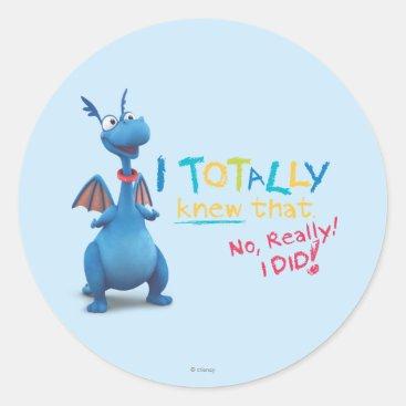 Stuffy - I Totally Knew that Classic Round Sticker
