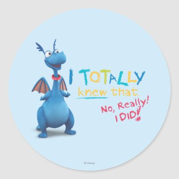 Stuffy - I Totally Knew that Classic Round Sticker