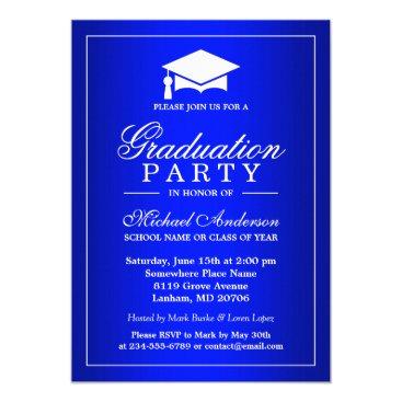 Stunning Royal Blue Gradient Graduate Graduation Invitation