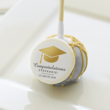 Stylish Graduation Name Congratulation Cake Pop