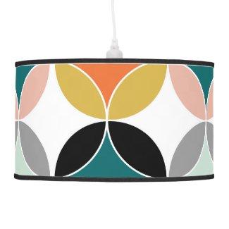 Stylish Modern Mid Century Circles Repeat Pattern Pendant Lamp