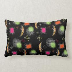 Stylish Retro Atomic Sphere Fabric Print Pillows