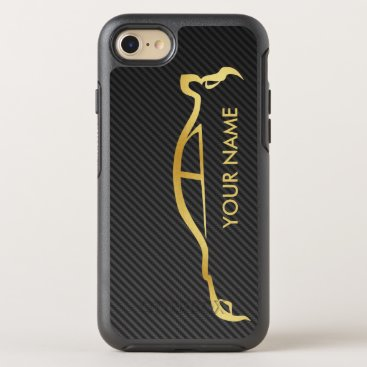 Subaru WRX Impreza Gold Silhouette OtterBox Symmetry iPhone SE/8/7 Case