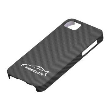 Subbie Love - STI white silhouette logo iPhone SE/5/5s Case