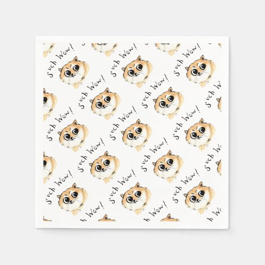 Such Wow Doge Meme Napkins Zazzle Com