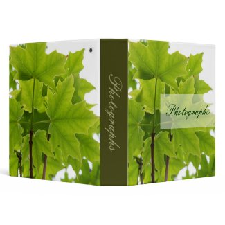 Sugar Maple Leaves Photo Binder binder